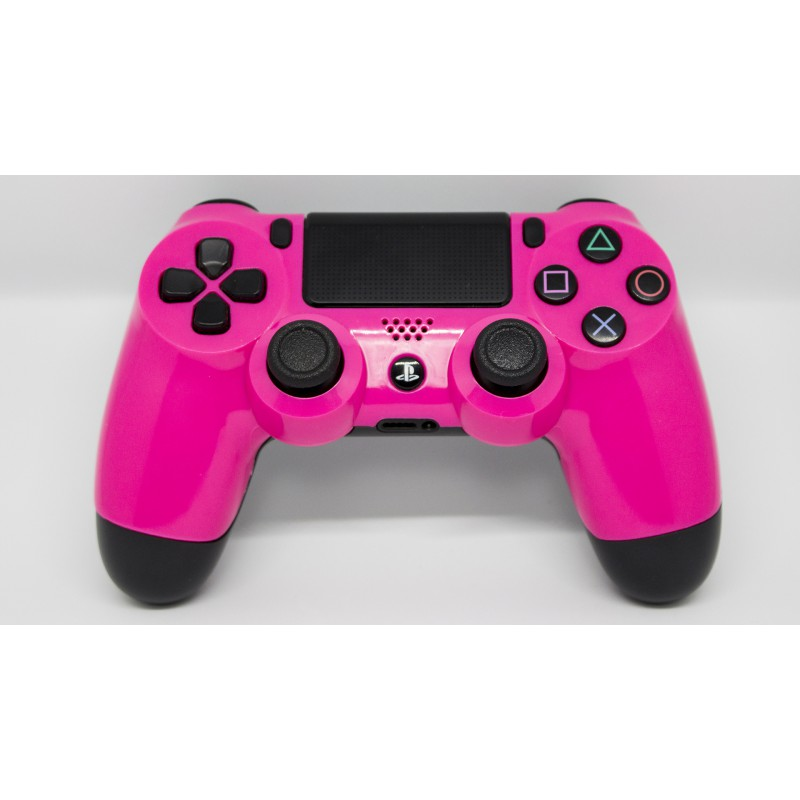 manette ps4 neon rose xs custom. Black Bedroom Furniture Sets. Home Design Ideas